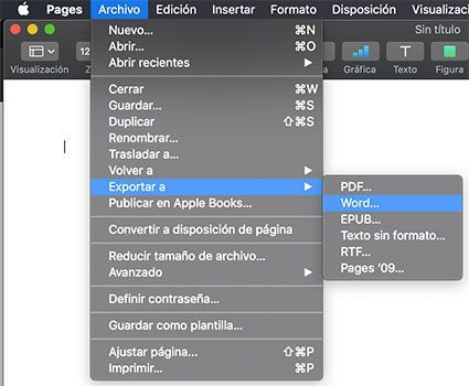 Convertir Pages en Word