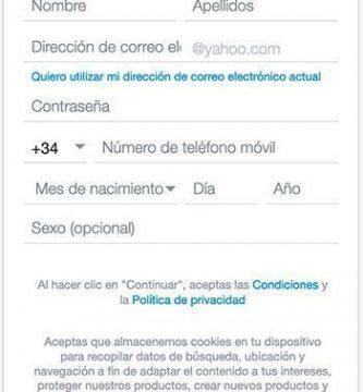 Crear dirección de correo Yahoo