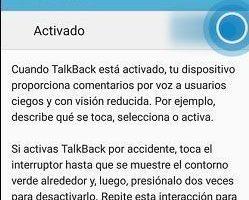 Desactivar TalkBack