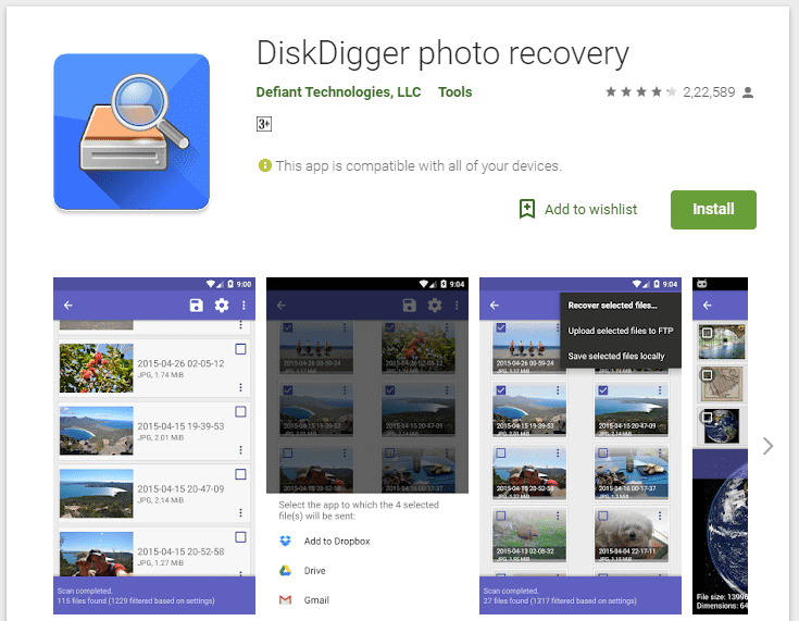 Cómo recuperar fotos borradas del teléfono Android