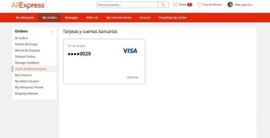 eliminar la tarjeta de AliExpress